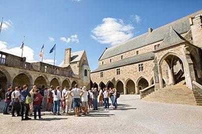 Cour intérieur du château de Vitré
